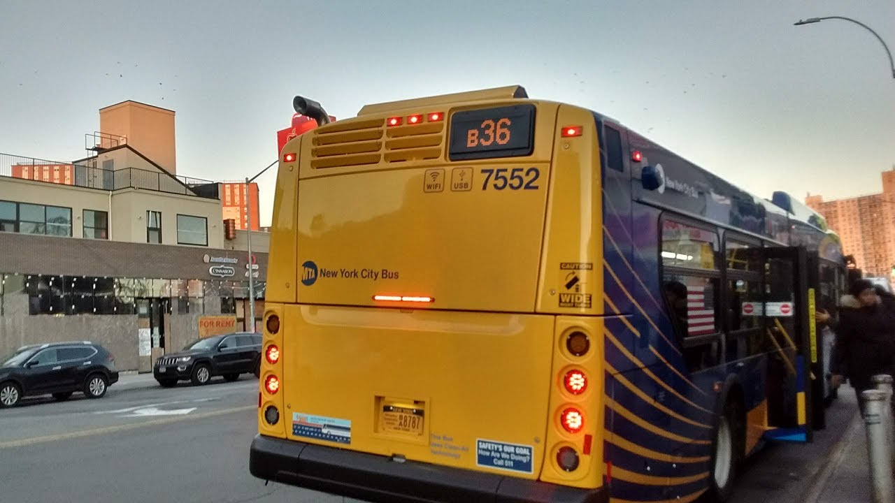 B36 Bus Time >> Nyct Bus Hd 2018 New Flyer Xd40 7552 On The B36 Surf Av