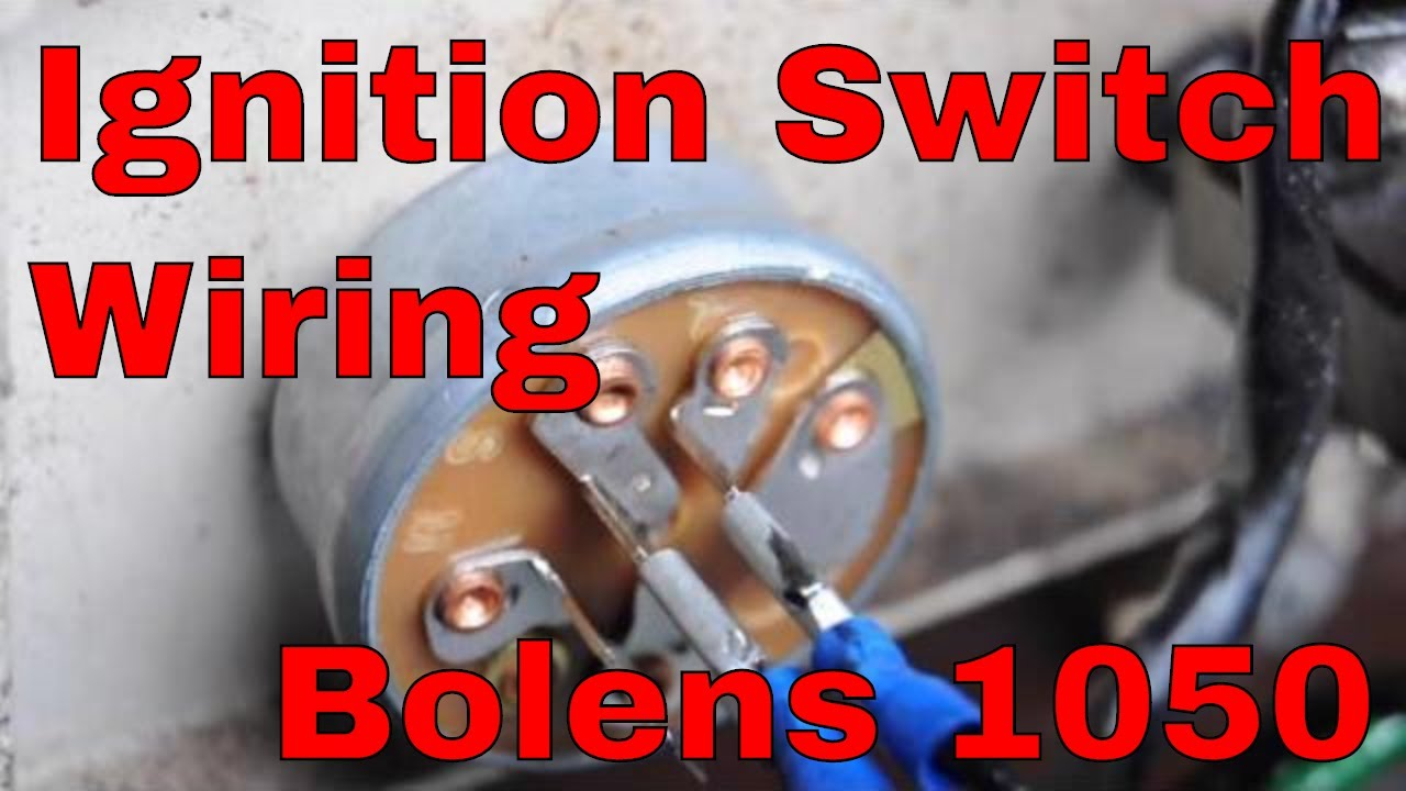 change the ignition switch on an Bolens 1050 Garden Tractor ...