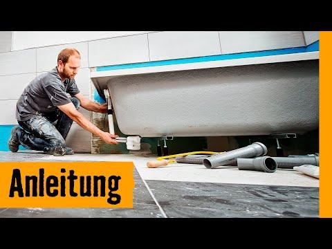 Super Badewanne einbauen mit Wannenfüßen | Anleitung von HORNBACH ET68