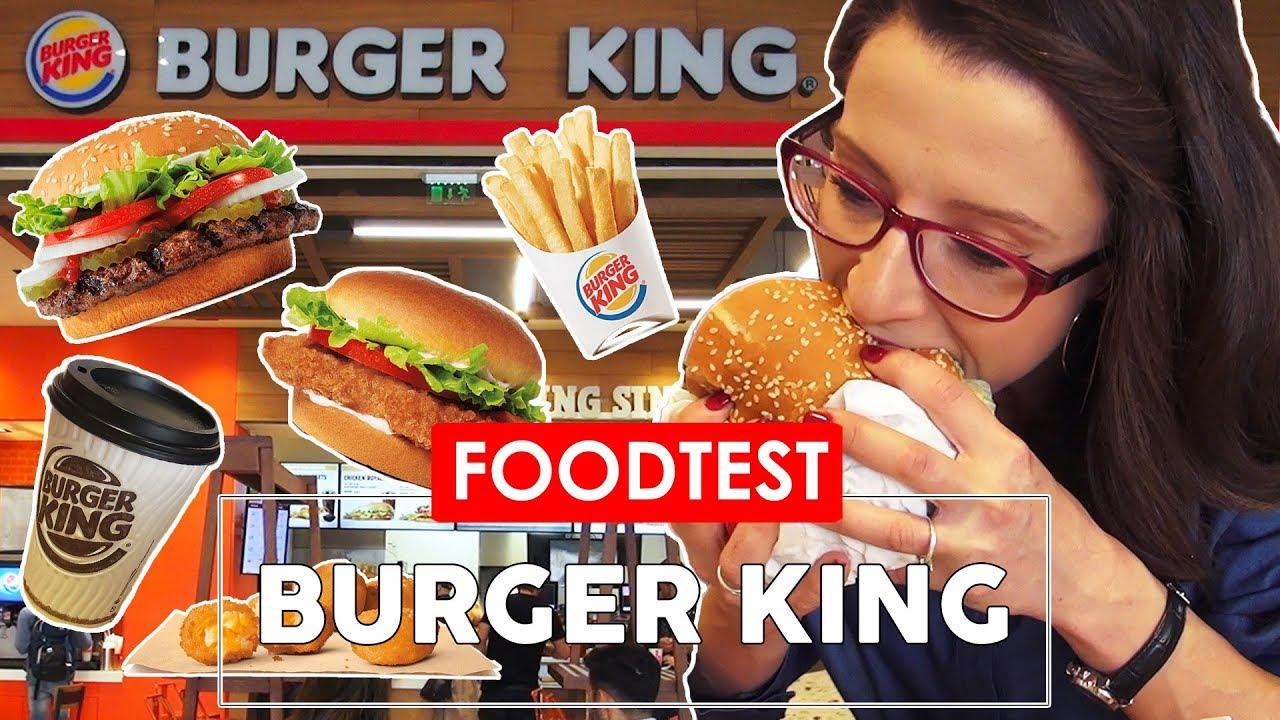 ? BURGER KING -  FOOD TEST - CE POTI MANCA?