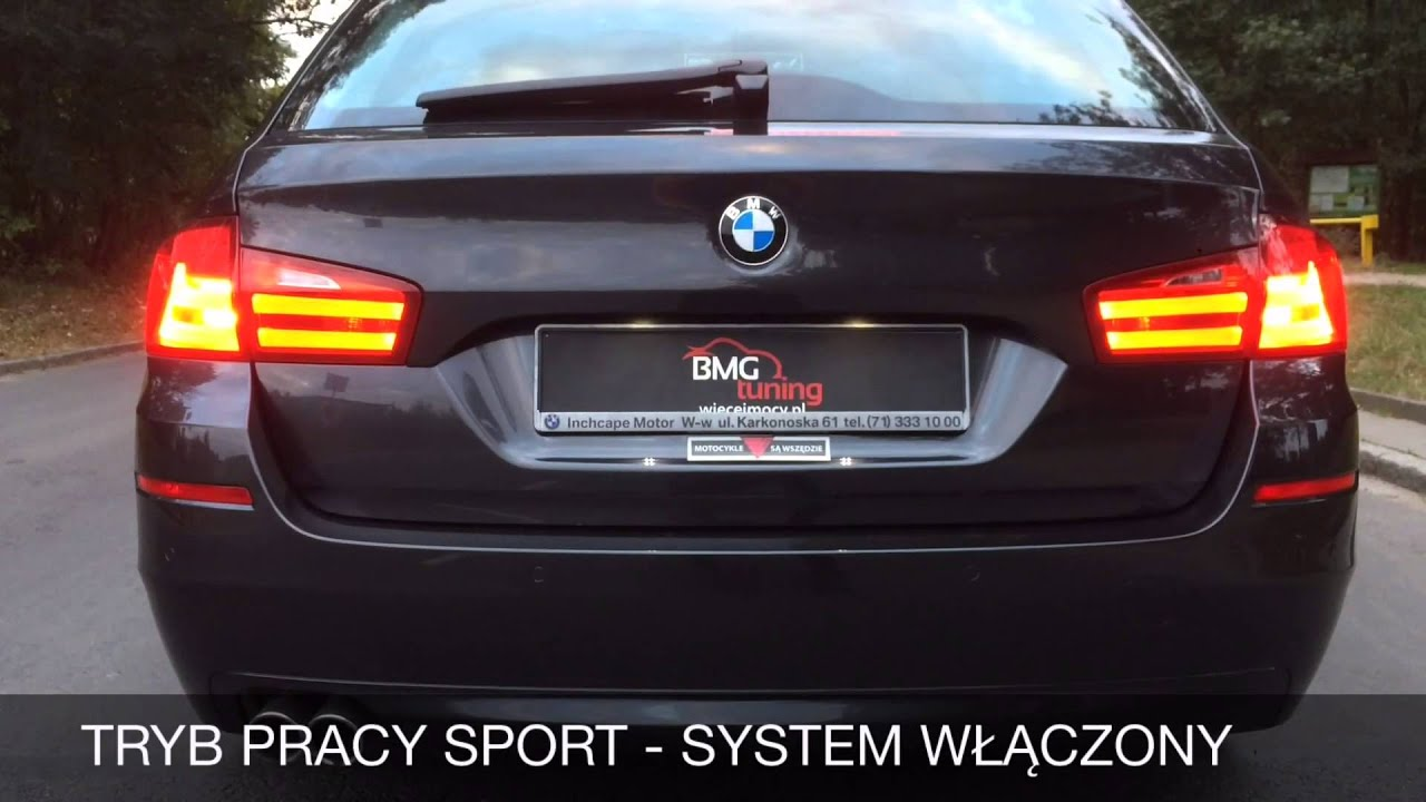 bmg tuning aktywny system wydechowy bmw f11 520d 184km doovi. Black Bedroom Furniture Sets. Home Design Ideas