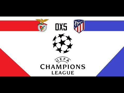 Benfica 0x5 Atlético de Madrid|Liga dos Campeões da UEFA|6° Rodada
