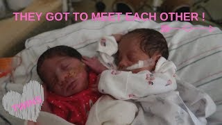 MY TWIN GIRLS GOT TO MEET EACH OTHER FOR THE FIRST TIME !