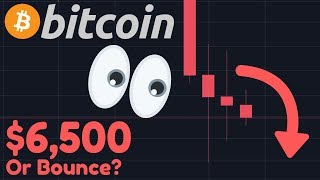 BITCOIN TO $6,500 Or BOUNCE?!! | YouTube ATTACKS ME In This PURGE!!