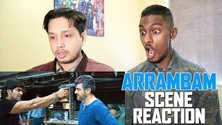ARRAMBAM Interval Scene Reaction | AJITH Vs ARYA   | By Stageflix