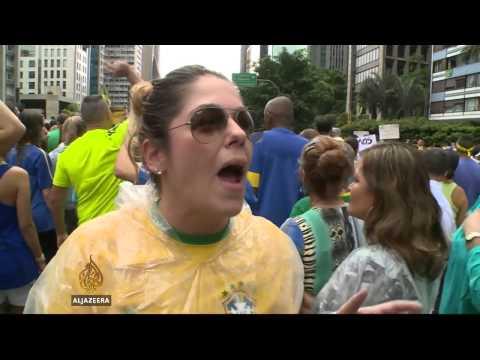 Hundreds of thousands protest against Brazil president
