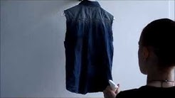 DIY Bleached sleeveless denim shirt /valkaise ja tuunaa farkkupaita