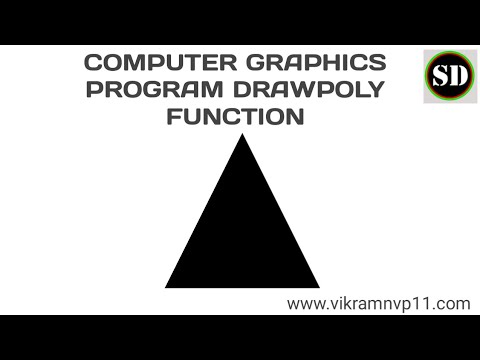 computer graphics program drawpoly function