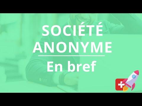 La société anonyme en bref