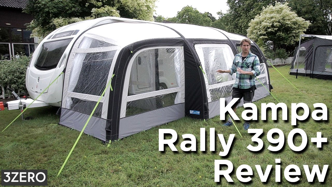 Kampa Rally Air 390 Caravan Awning Review Youtube