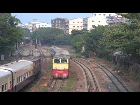 Trains of Myanmar railways(MR)(Jan., 2018)  2 ミャンマー国鉄の列車(2018年1月) 2
