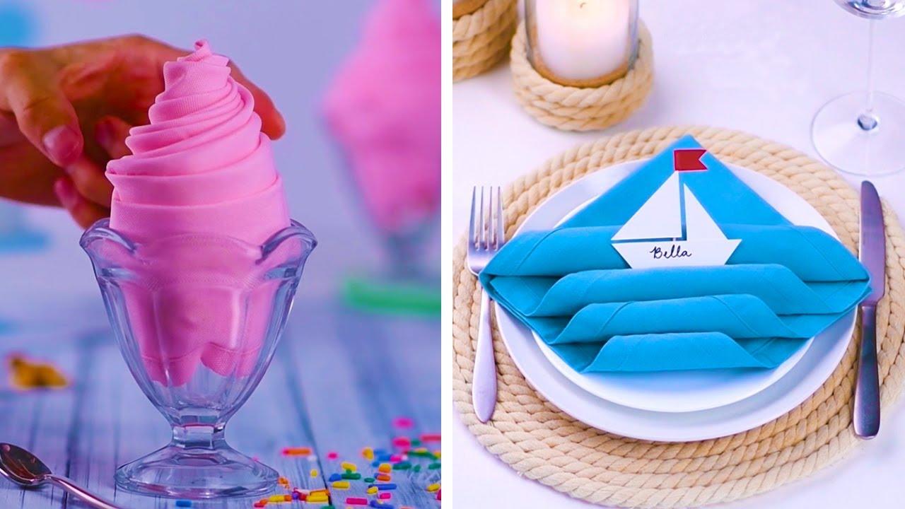 Идеи како да ги завиткате салфетите за да ги импресионирате гостите