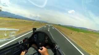 Glider Take Off and Landing at Nephi