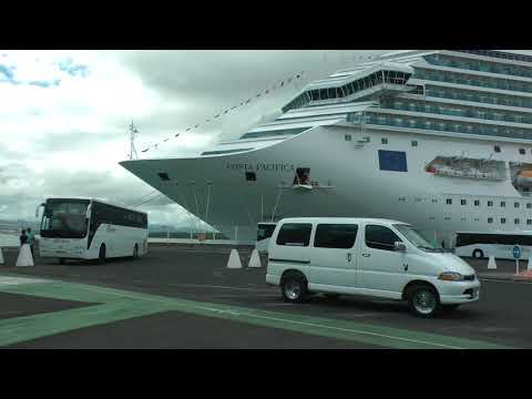 Costa Pacifica in port at Guadeloupe (HD extended view)