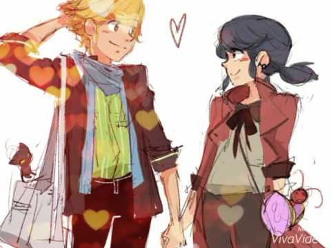 Miraculous (Ladybug/Marinette y Chat noir/ Adrien) - YouTube