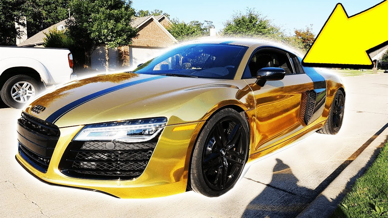Moosecraft S New Gold Chrome Supercar Gold Audi R8 V10