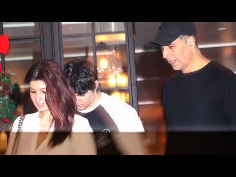 Akshay Kumar SPOTTED Along With Twinkle Khanna And Son Aarav At A Restaurant In Juhu
