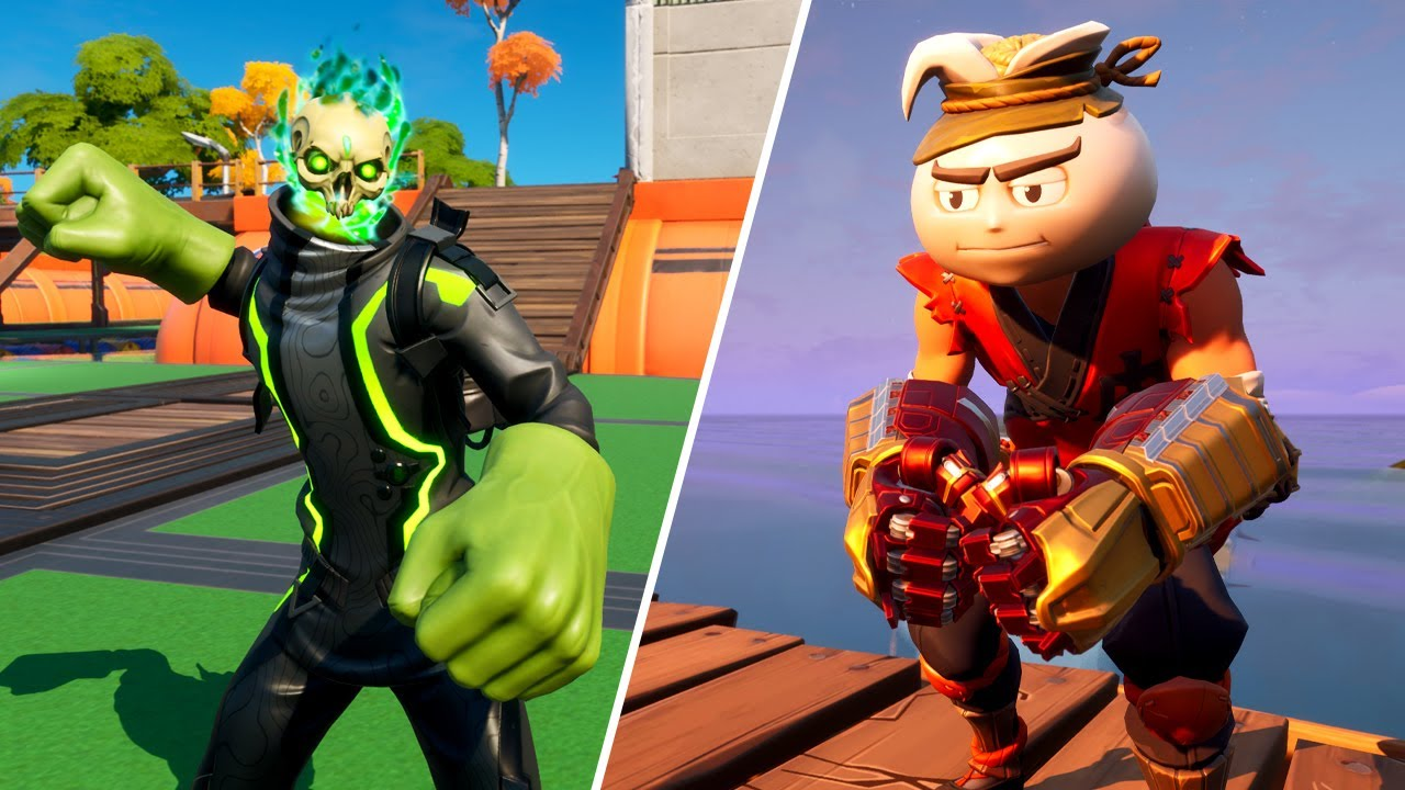 Fortnite | Hulk Smasher & Hulkbuster Pickaxe Gameplay - 1 Minute Showcase (Per Edit Style)