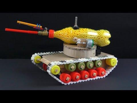 Как сделать самодельный танк, который стреляет