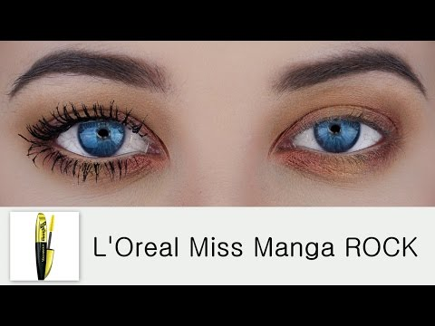 42f77f51815 L'Oreal Voluminous Miss Manga Rock Mascara | Demo & Review - YouTube