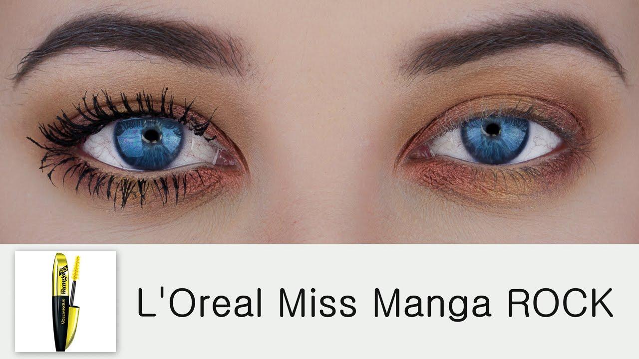 1175ff7a547 L'Oreal Voluminous Miss Manga Rock Mascara | Demo & Review - YouTube