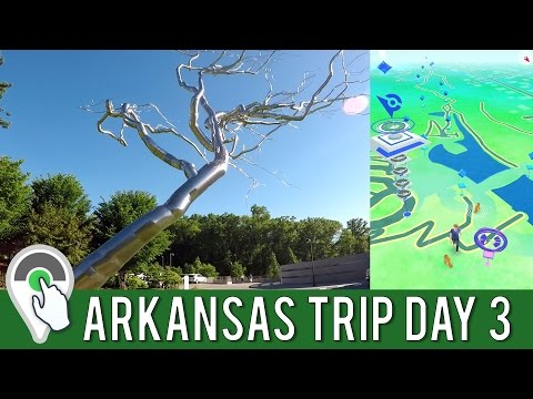 ARKANSAS TRIP DAY 3! Pokemon GO Daily Adventure at Crystal Bridges Museum in Bentonville, AR!