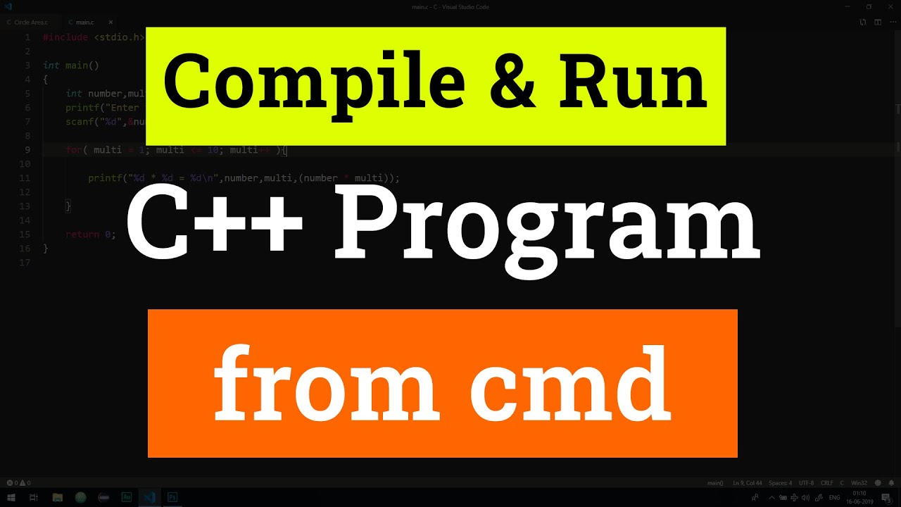 How to Compile and Run a C++ Program from Command Prompt in Windows 10