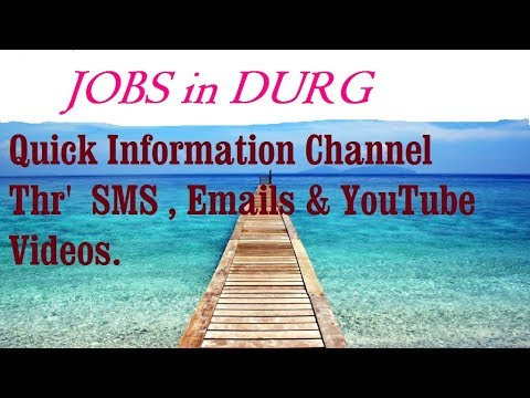 JOBS in DURG for Freshers & graduates. Industries, companies.