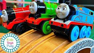 HUGE Thomas & Friends Motorized Wooden Railway Mystery Wheel Races Compilation