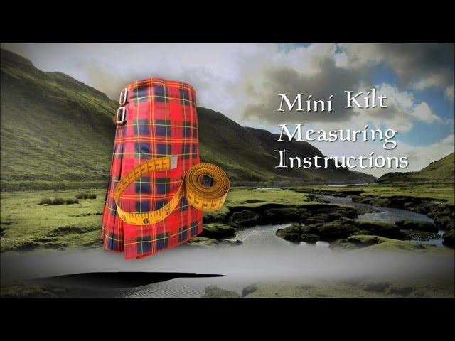 How to Measure a Wool Kilted Skirt