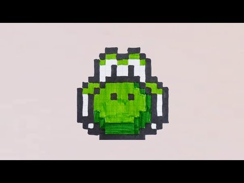 Comment Dessiner La Tête De Yoshi En Pixel Art Youtube