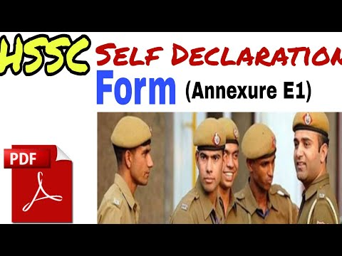 Haryana Police Constable Category 1/Advt 6/2019 form apply & self