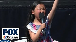 7-year-old Malea Emma's national anthem rendition will give you chills | NASCAR on FOX