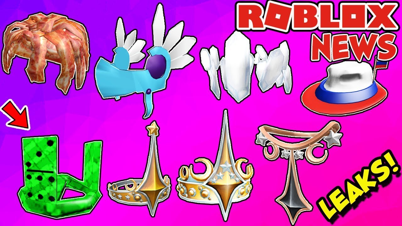 Roblox News Amazing Leaked Items Viridian Domino Crown Ice Valkyrie Federations Crowns More Youtube