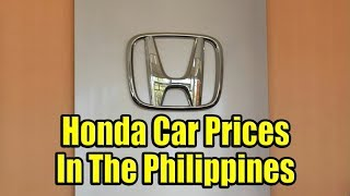 Honda Car Prices In The Philippines.