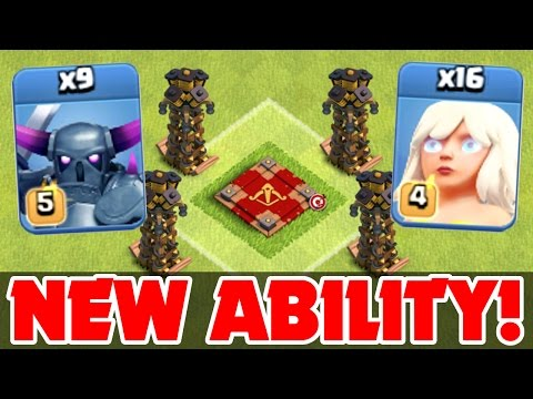 Clash Of Clans   New Level Ability! Gemming The Queen!   All Max Pekka & Healer Attack Strategy!