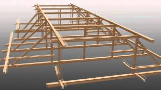 Autodesk Showcase Timber Roof Construction