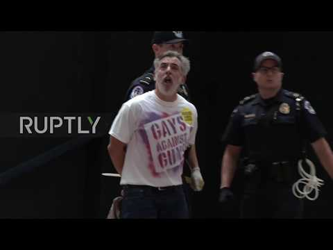 USA: 'Gays Against Guns' stage 'die-in' protest in Senate office building