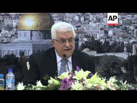 Palestinian president reacts to Israeli plans to build 3,000 homes for Jews