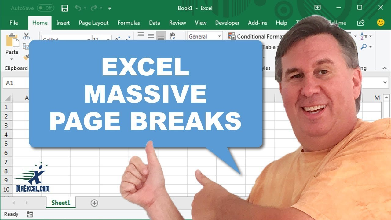 how to remove page break in excel 2003