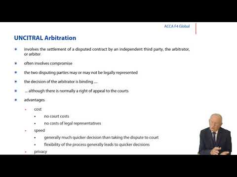 International Court of Arbitration - ACCA LW Global