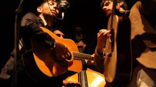 The Avett Brothers in Charlotte, sing, Back Home Again by John Denver