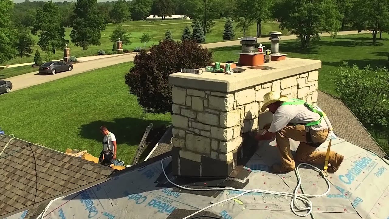 Ray St. Clair Roofing   Reveal Crown Chimney   YouTube