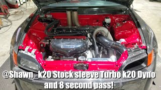 @shawn k20 8 second stock sleeve k20 Dyno + Track pass