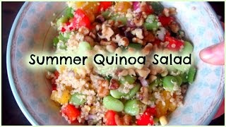 Healthy Summer Quinoa Salad // Easy And Vegan // By A Dietitian