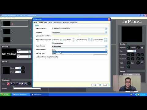 ArKaos MediaMaster Tutorial 1 - The preferences window