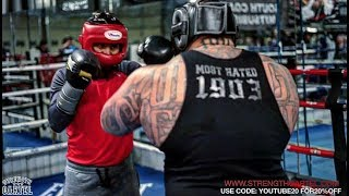 330 POUND POWERLIFTER -FIGHTS- 130 POUND 3 DIVISION BOXING WORLD CHAMP MIKEY GARCIA!!! | WHO WINS!?