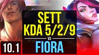 SETT vs FIORA (TOP) | 2 early solo kills, KDA 5/2/9 | EUW Master | v10.1