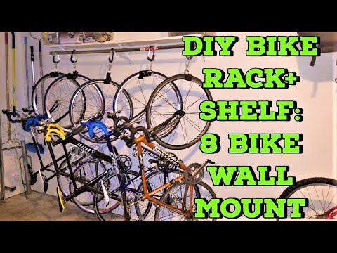 diy-bike-storage-rack:-wall-mount-with-storage-shelf,-easily-store-6-8-bicycles-your-accessories!