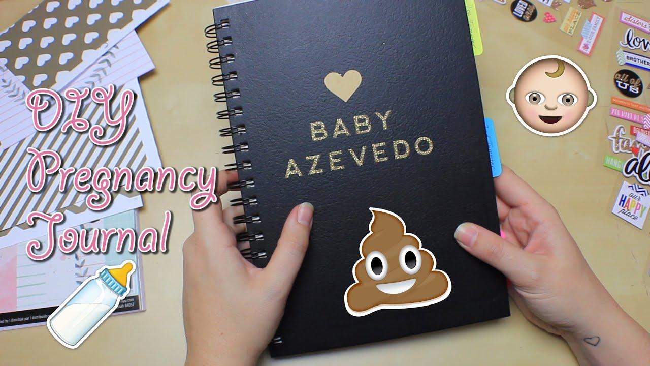 diy pregnancy journal youtube
